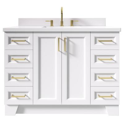 Taylor 49 in. W x 22 in. D Bath Vanity in White with Quartz Vanity Top in White with White Basin