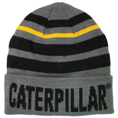 Tumbler Men's One Size Dark Heather Grey Acrylic/Spandex Knit Cap Beanie