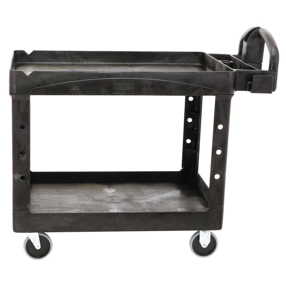 Go Home Black Industrial Kitchen Cart At Lowes Com: Rubbermaid Commercial Products Heavy Duty Black 44 In. 2