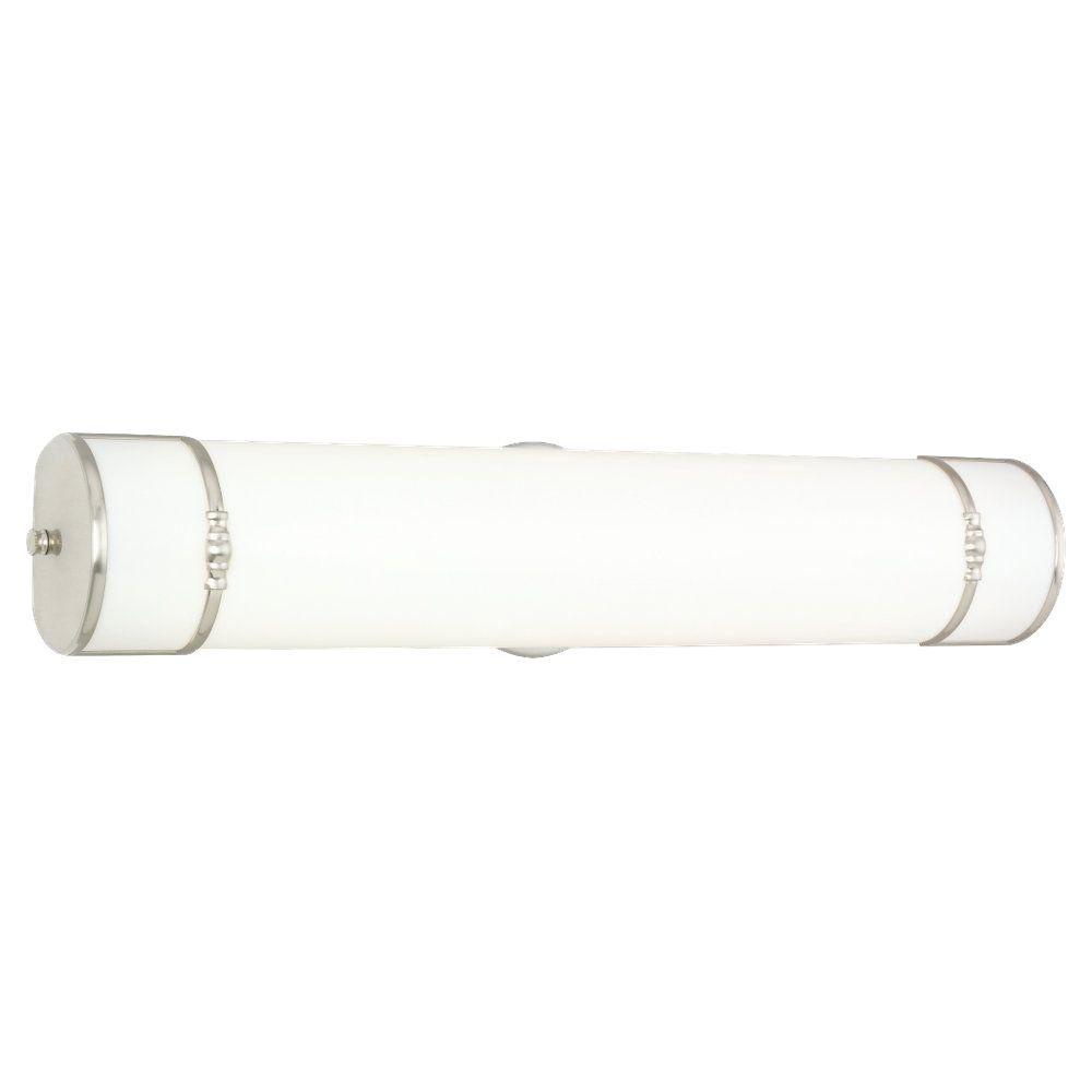 Sea Gull Lighting Midland Collection 2-Light Brushed Nickel Fluorescent Tubular Fixture