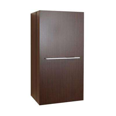 Carvell 15-4/6 in. W x 31-1/2 in. H x 11-6/8 in. D Bathroom Storage Wall Cabinet in Walnut