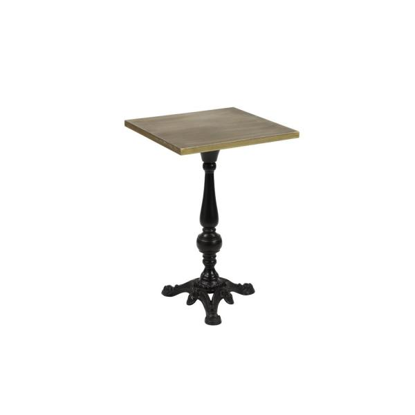 Litton Lane Small Gold And Black Iron Square Accent Table