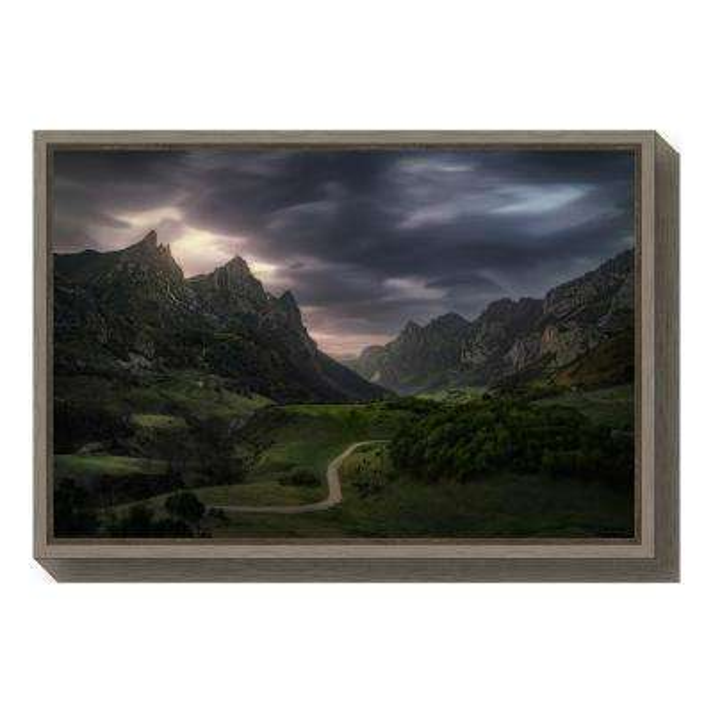 """""""Valle de Lago V"""" by Juan Pablo de Framed Canvas Wall Art"""
