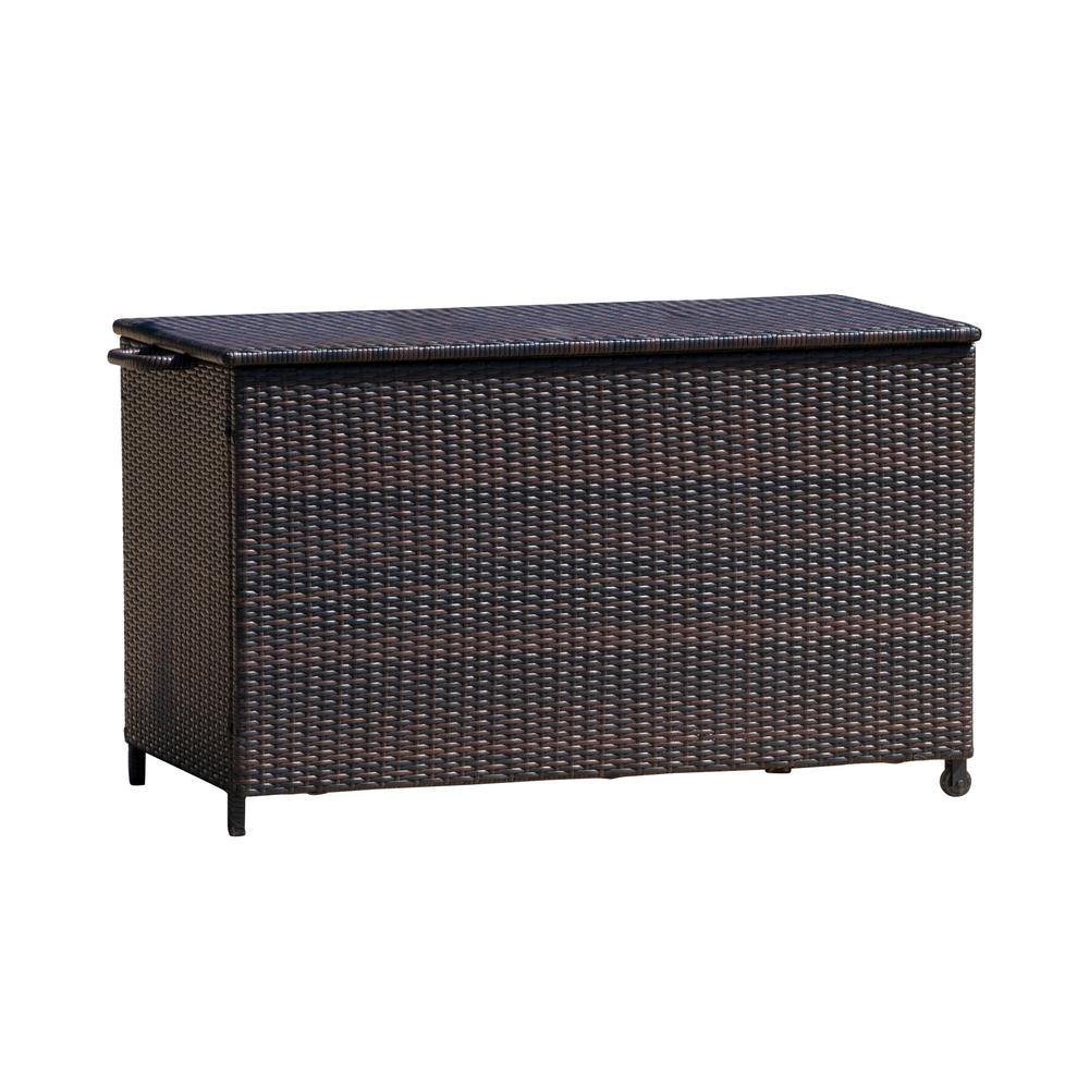 Noble House 4 ft. x 2 ft. x 2.5 ft. Brown Cushion Box