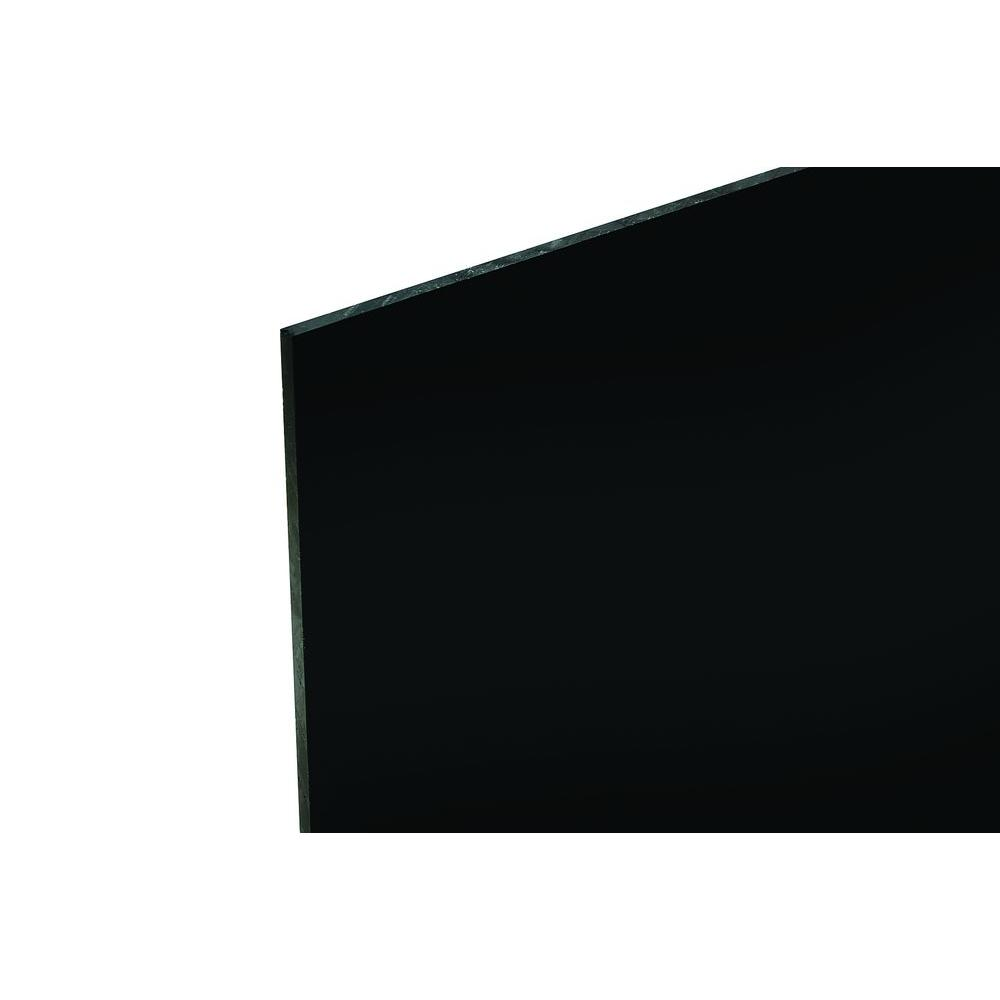 48 in. x 96 in. x .118 in. Black Acrylic Sheet