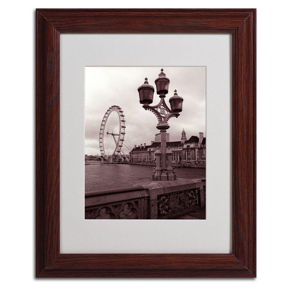 Trademark Fine Art 11 in. x 14 in. London Eye 2 Matted Framed Art