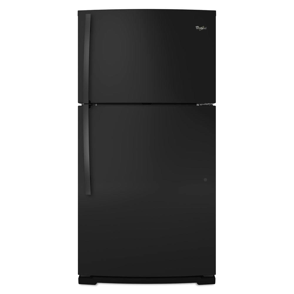 Whirlpool 21.1 cu. ft. Top Freezer Refrigerator in Black-DISCONTINUED