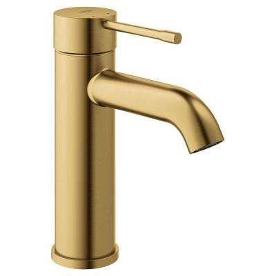 Essence S-Size Single Hole Single-Handle Bathroom Faucet with Adjustable Flow Control in Brushed Cool Sunrise