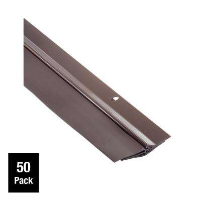 Triple Seal 2-1/8 in. x 36 in. Brown Aluminum Door Sweep Contractor Pack of 50