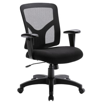Black High Back Fabric Computer Chair with Big Ergonomic Office Design for Lumbar Support