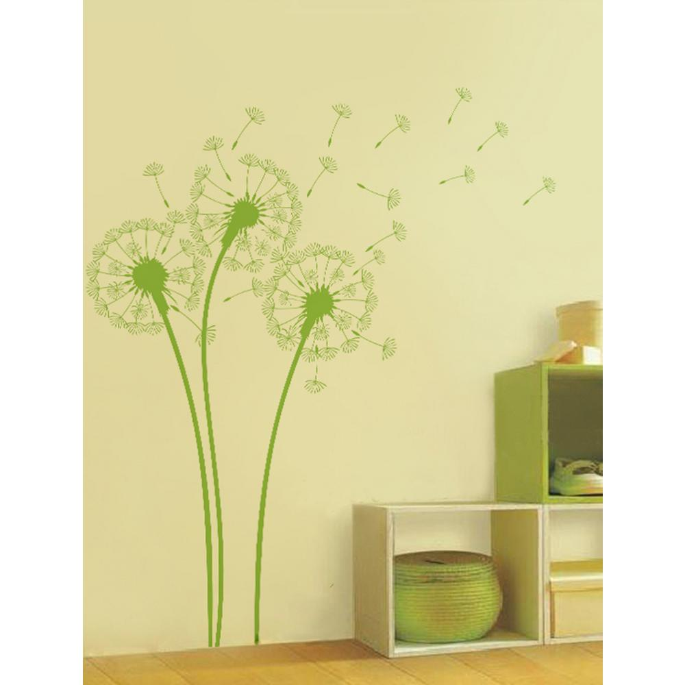Pop Decors Lime Tree Green Dandelions Removable Wall Decal-PT-0102 ...