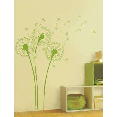 Lime Tree Green Dandelions Removable Wall Decal
