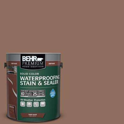 1 gal. #SC-148 Adobe Brown Solid Color Waterproofing Exterior Wood Stain and Sealer