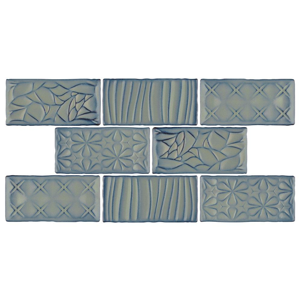 Merola Tile Antic Sensations Griggio 3 in. x 6 in. Ceramic Wall Subway Tile (1 sq. ft. / pack), Griggio / High Sheen was $21.37 now $13.57 (36.0% off)