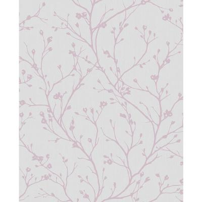 8 in. x 10 in. Orchis Lavender Flower Branches Wallpaper Sample