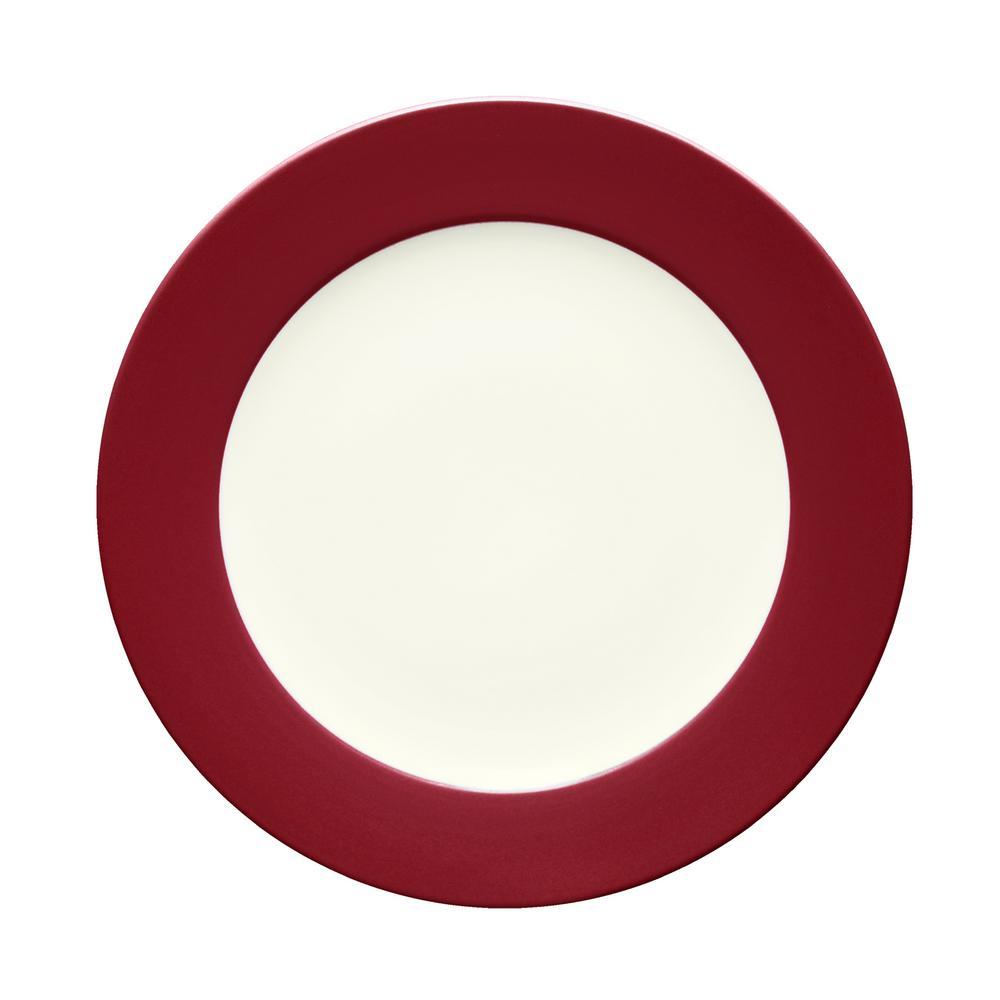Noritake Colorwave 11 in. Raspberry Rim Dinner Plate 8045-606