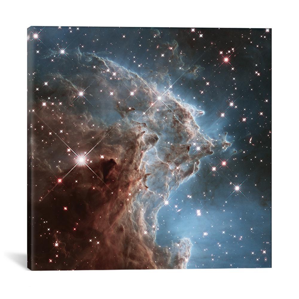 """NGC 2174 (Monkey Head Nebula) (Hubble Space Telescope 24th Anniversary Image)"" by NASA Canvas Wall Art"