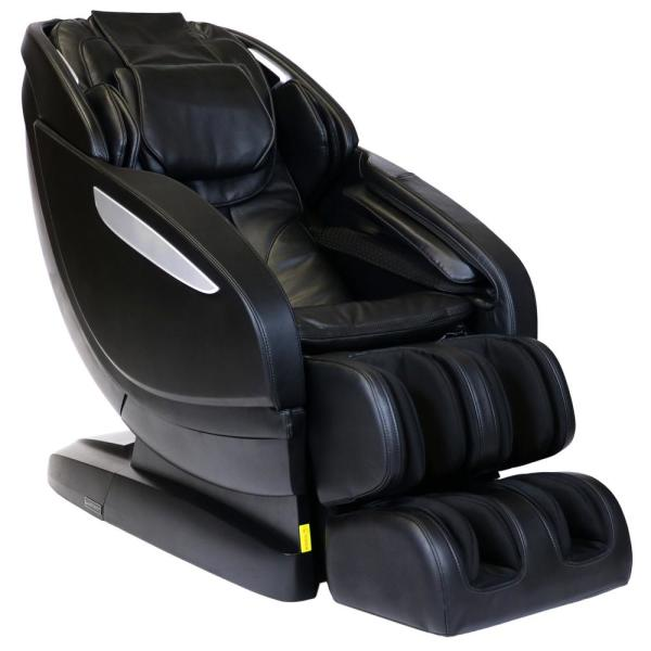 Infinity Infinity Altera Black L-Track Massage Chair with Spinal Correction and