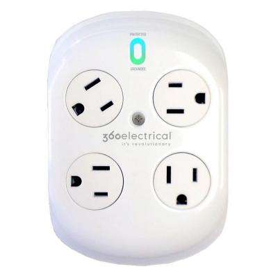 Revolve Surge Protector with 4 Rotating Outlets
