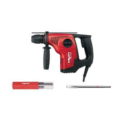 6 Amp 120-Volt Corded SDS-Plus TE-7C Concrete Rotary Hammer Drill with Flat Chisel and TE-CX M4 Bit Set