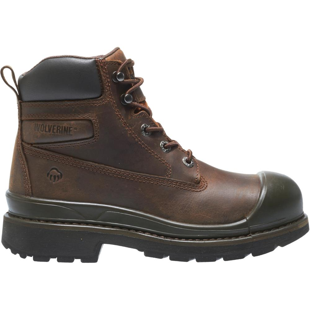Boots - Steel Toe - Brown Size 7.5(W