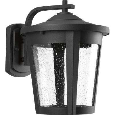 East Haven Collection 1-Light 12 in. Outdoor Black LED Wall Lantern Sconce