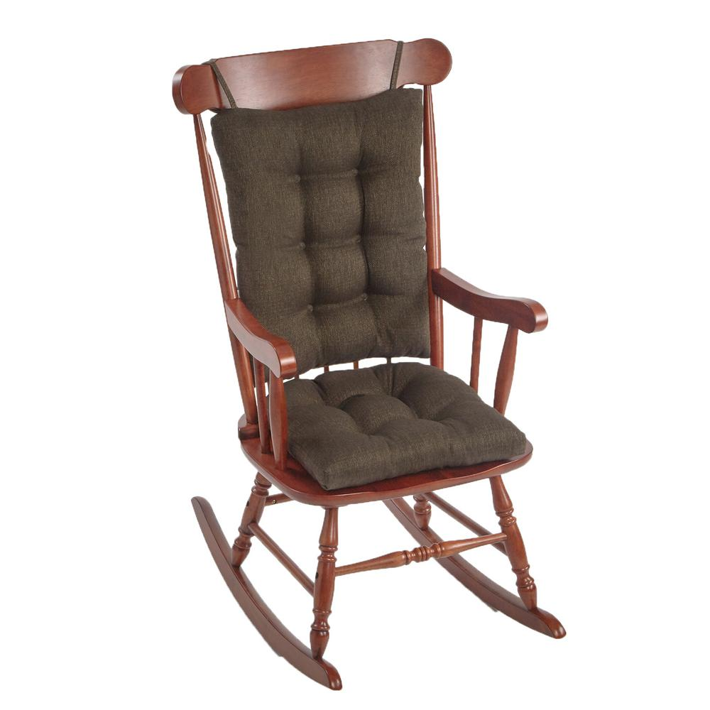 Gripper Omega Chestnut Jumbo Rocking Chair Cushion Set