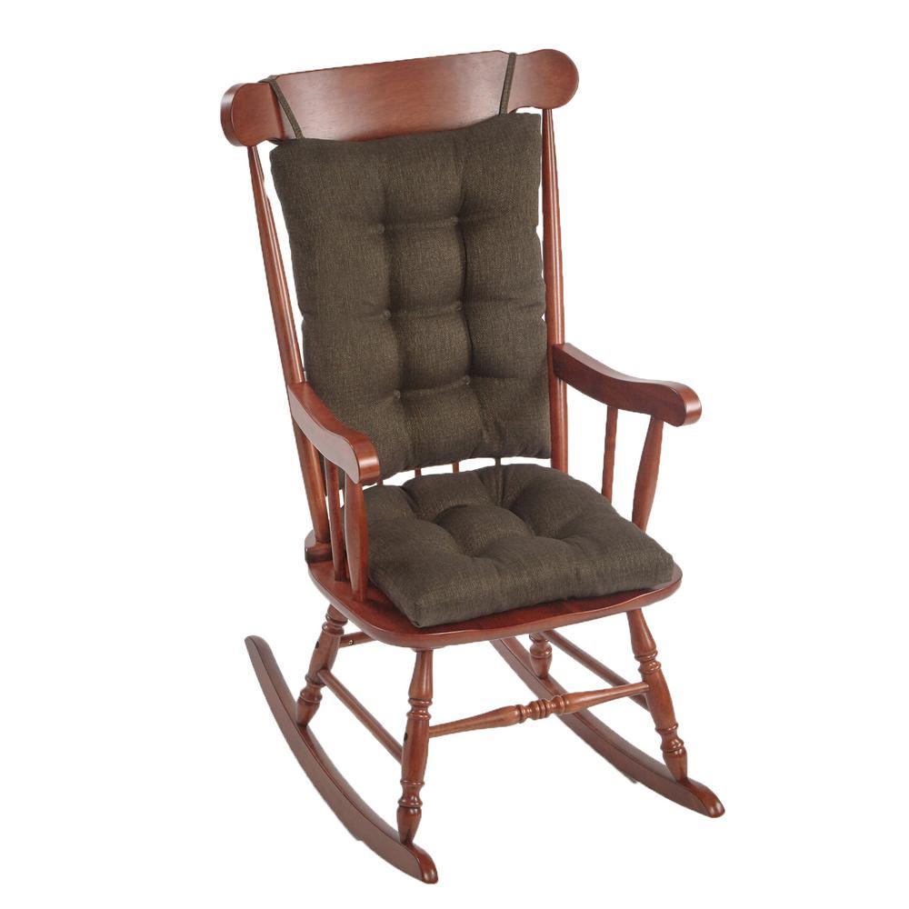 Gripper Omega Chestnut Jumbo Rocking Chair Cushion Set
