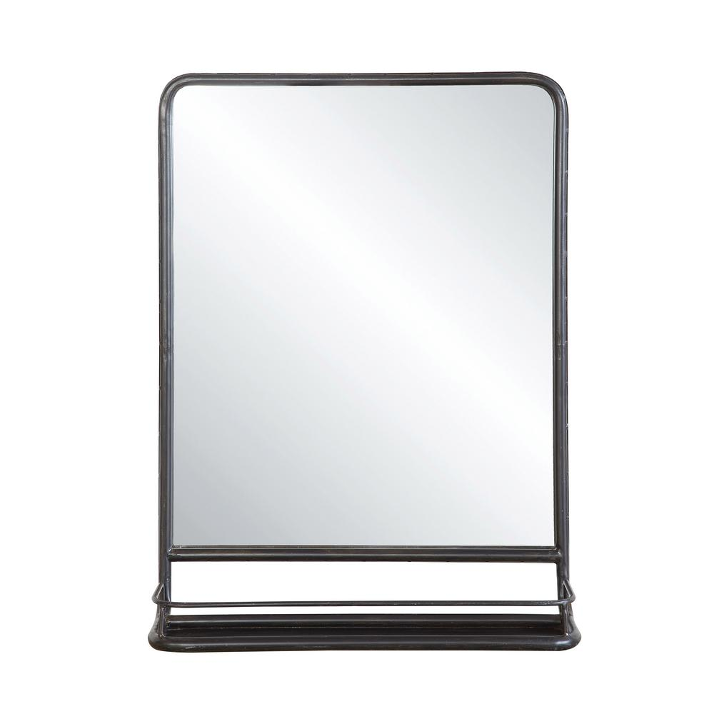 3R Studios Mason Black Framed Mirror-DA4675 - The Home Depot