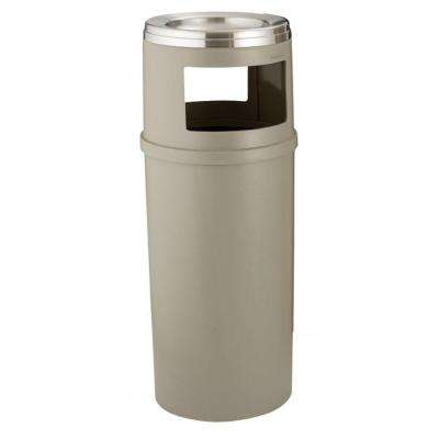 25 Gal. Beige Ash/Trash Container without Doors