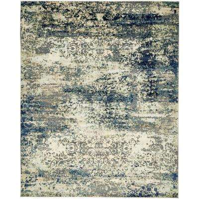 Ethereal Navy Blue 8 Ft X 10 Area Rug