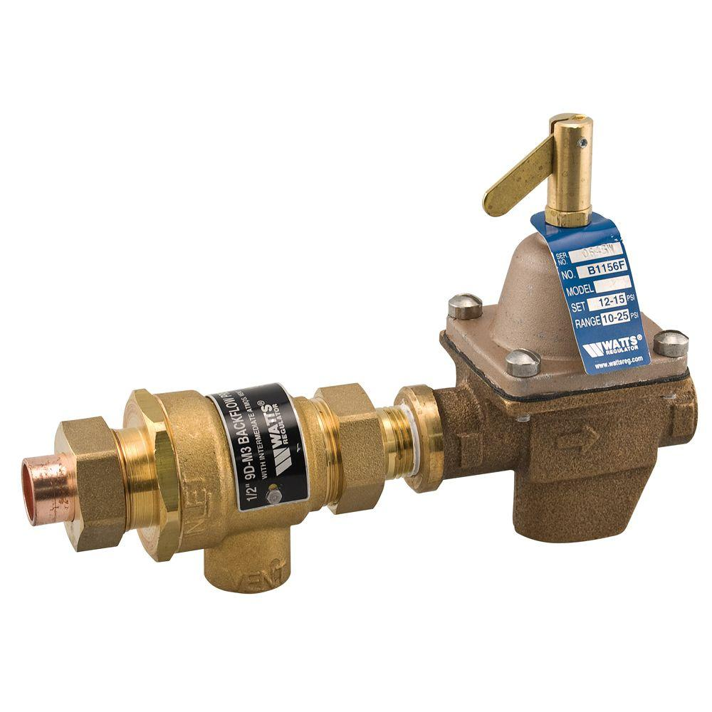 Watts 1/2 in. Bronze Pressure FPT x Sweat Boiler Fill Valve and ...