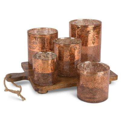 Copper Votive Garden Glass Candle Holder