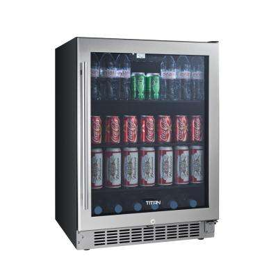 23.5 in. 142 (12 oz.) Seamless Stainless Steel Built-In Beverage Can Cooler