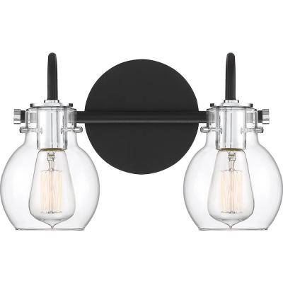 Andrews 2-Light Earth Black Vanity Light