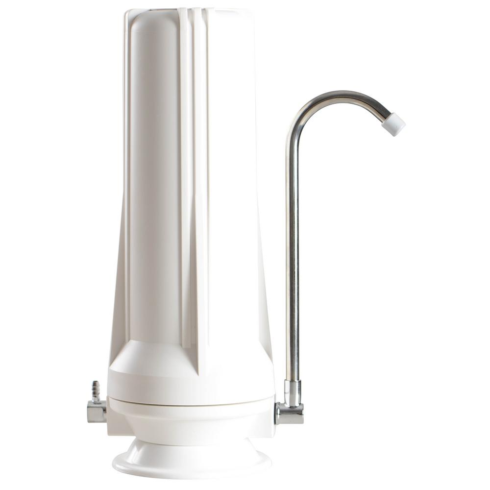 Premium 3-Stage Counter Top Water Filtration System in White