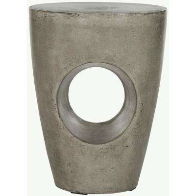 Aishi Dark Gray Stone Indoor/Outdoor Accent Table