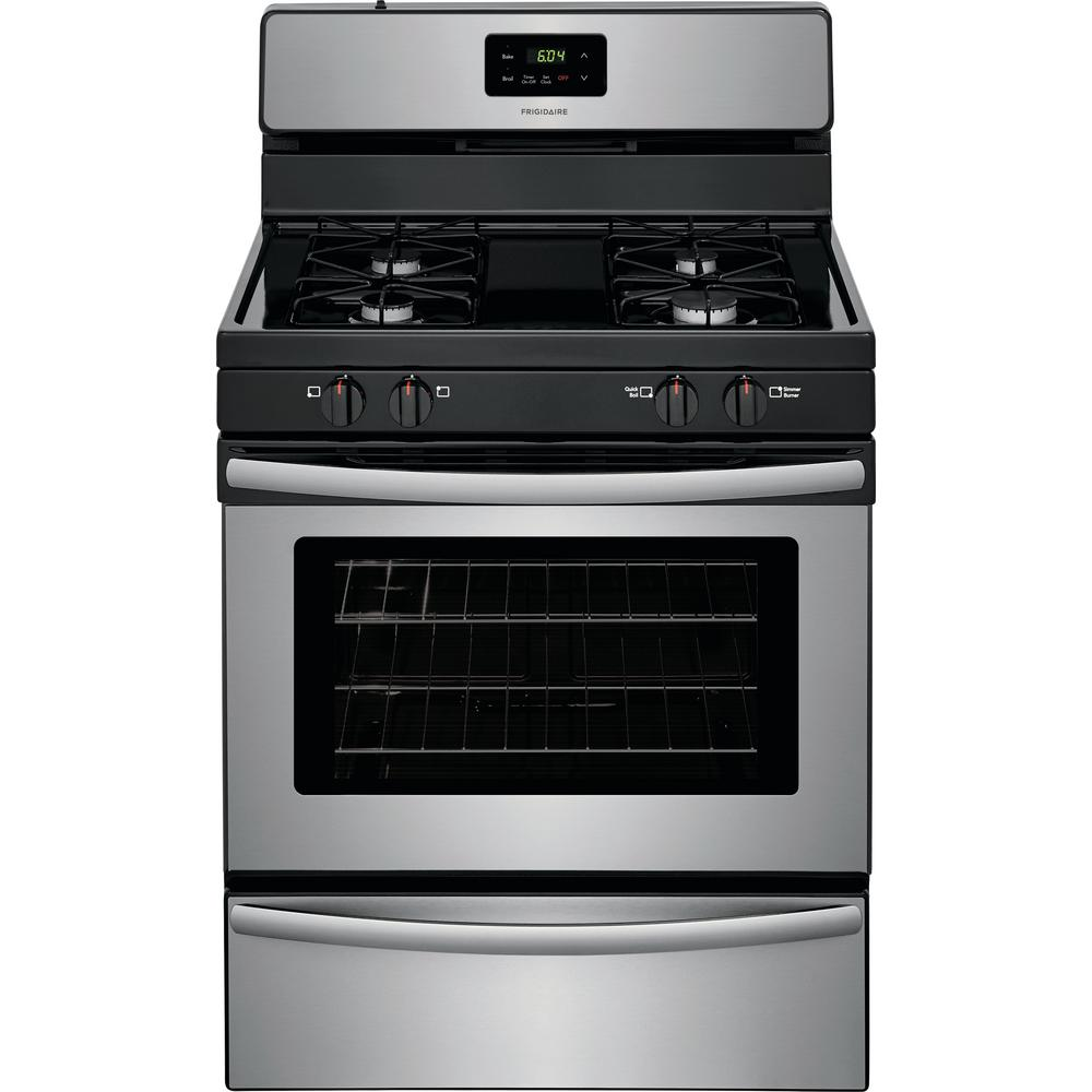 30 in. 4.2 cu. ft. Single Oven Gas Range in Stainless