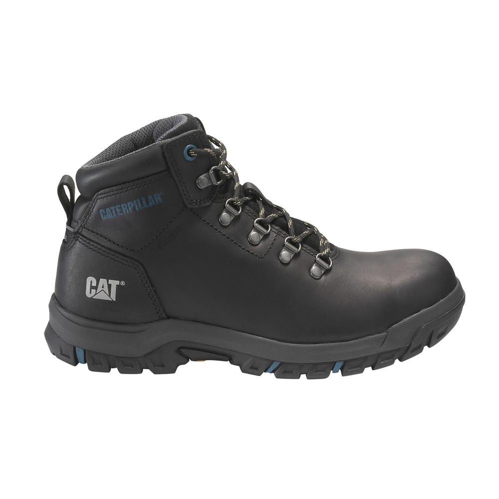 f8235a6851dd CAT Footwear. Women's Size 6 Black Grain Leather Mae Waterproof Steel Toe  Work Boots