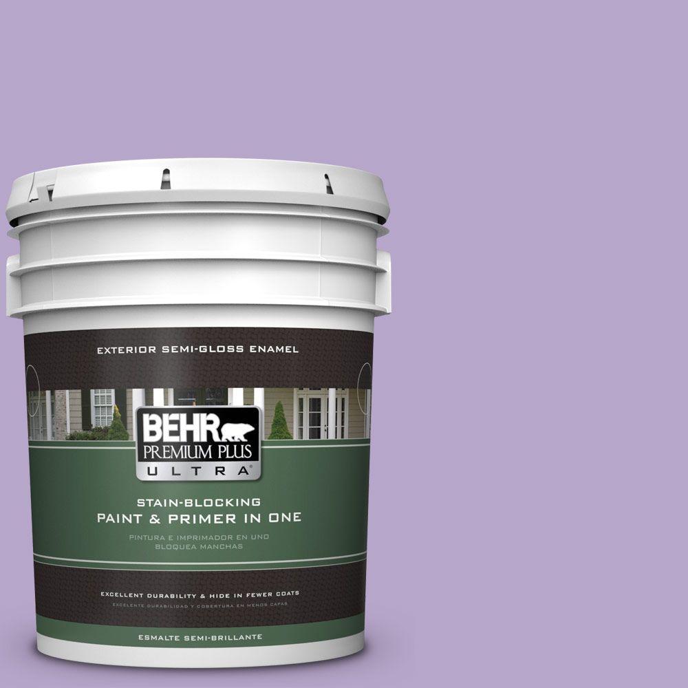 5-gal. #650B-4 Violet Fields Semi-Gloss Enamel Exterior Paint
