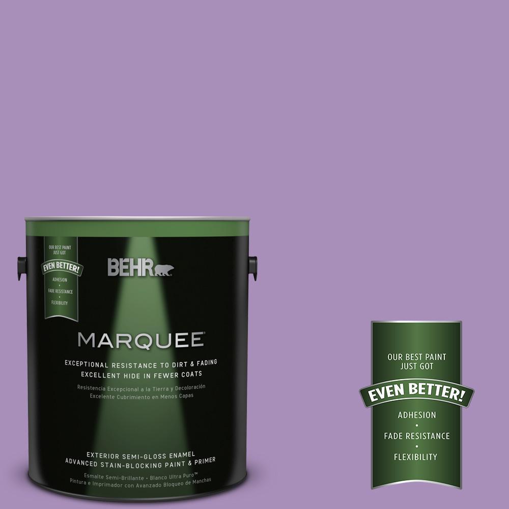 BEHR MARQUEE 1-gal. #650B-5 Garden Pansy Semi-Gloss Enamel Exterior Paint