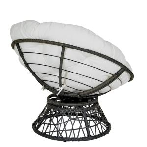 Super Osp Home Furnishings Papasan Chair With White Round Pillow Uwap Interior Chair Design Uwaporg