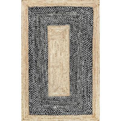 Lesha Natural Fiber Black 5 ft. x 8 ft. Area Rug