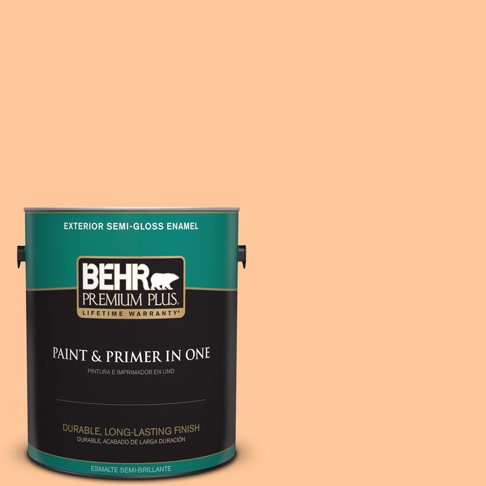 1-gal. #P230-4 Citrus Punch Semi-Gloss Enamel Exterior Paint