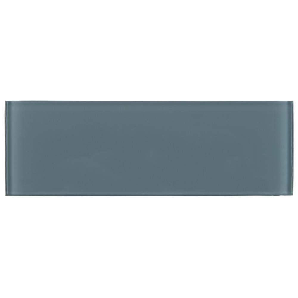 Harbor Gray 4 in. x 12 in. Glass Wall Tile (5