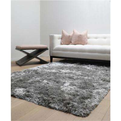 Luxe Shag Grey 5 ft. x 8 ft. Area Rug