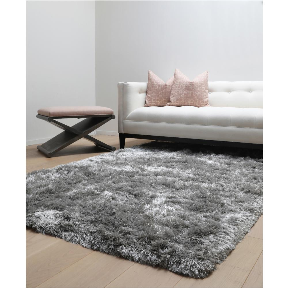 Luxe Shag Grey 8 Ft X 10 Ft Area Rug 8505 8x10 The