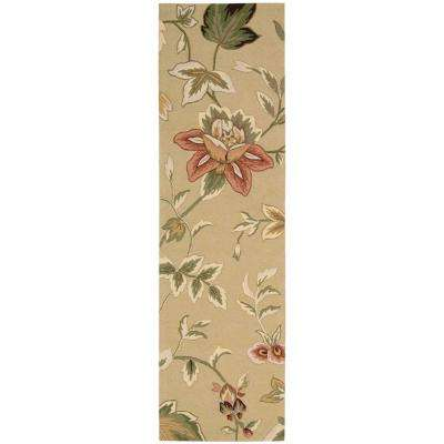 French Country Beige 2 ft. x 8 ft. Runner Rug
