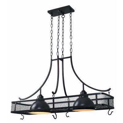 Montgomery 2-Light Oil Rubbed Bronze Pot Rack Chandelier