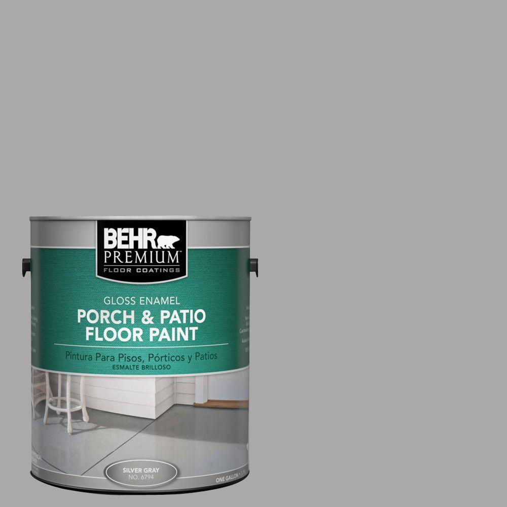 BEHR Premium 1 gal. #PFC-68 Silver Gray Gloss Interior/Exterior Porch and Patio Floor Paint